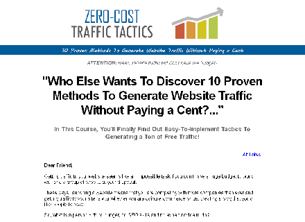 Get traffic using free sources Coupon Code