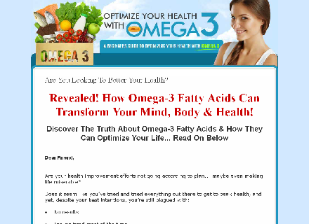 Improve Your Health With Omega-3 Coupon Code
