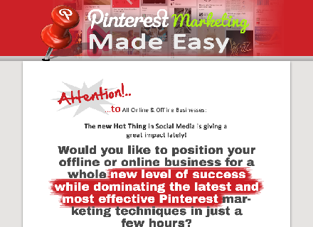 Pinterest Marketing for Business Coupon Code