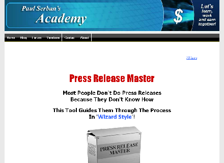 Press Release Master Software Coupon Code